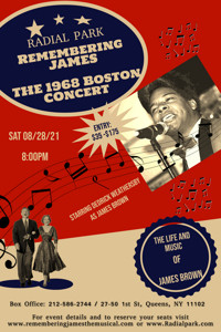Remembering James- The Life and Music of James Brown Starring Dedrick Weathersby in Brooklyn