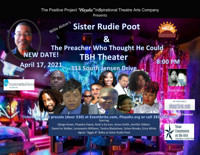 Sister Rudie Poot & The Preacher Who Thought He Could in Houston Logo