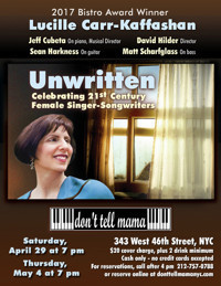 Unwritten, Celebrating 21st Century Female Singer-Songwriters in Other New York Stages