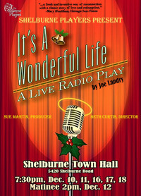 It's a Wonderful Life, live radio play by Joe Landry in Vermont
