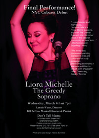 Liora Michelle: The Greedy Soprano in Off-Off-Broadway