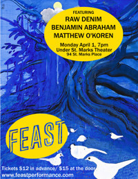 FEAST3: April in Off-Off-Broadway