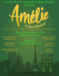 Amelie the Musical presented by the Exeter-West Greenwich Senior High Drama Club in Rhode Island