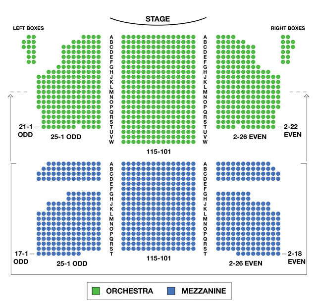 Kinky boots seating chart al hirschfeld theatre seating for Broadway plan
