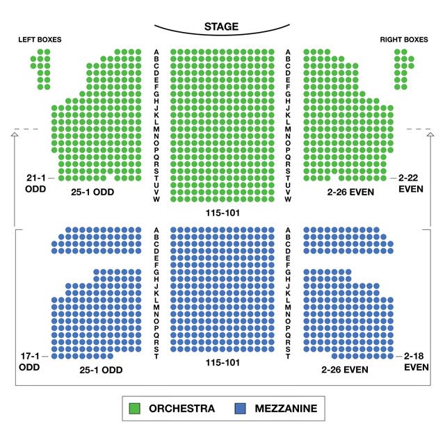 Al Hirschfeld Theatre Broadway Seating Chart