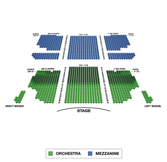Al Hirschfeld Theatre Broadway 3D Seating Chart