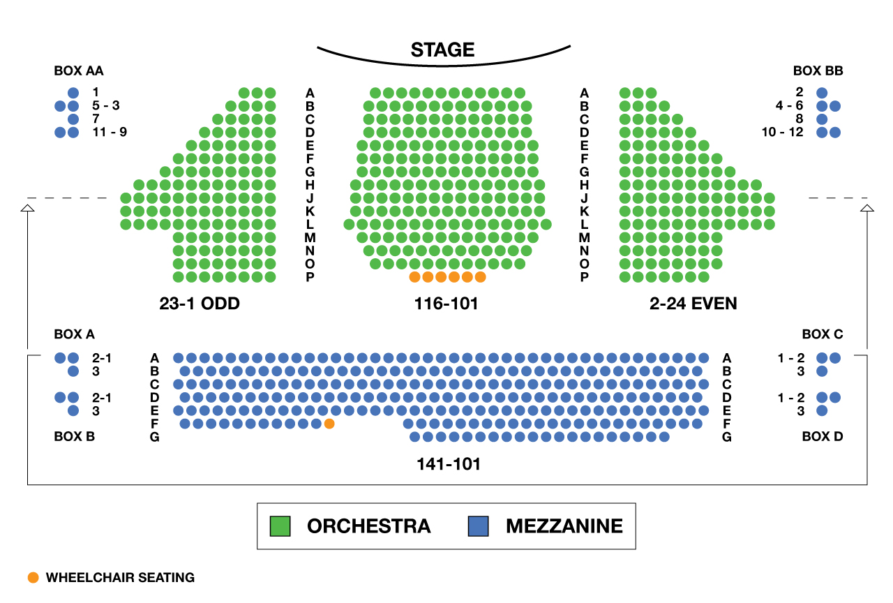 American Airlines Theatre Large Broadway Seating Charts
