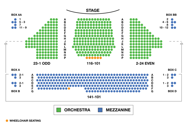 American Airlines Theatre Broadway Seating Charts