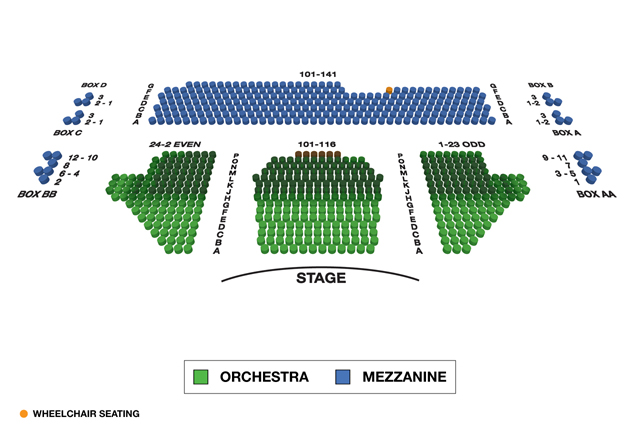 American Airlines Theatre Broadway 3D Seating Chart