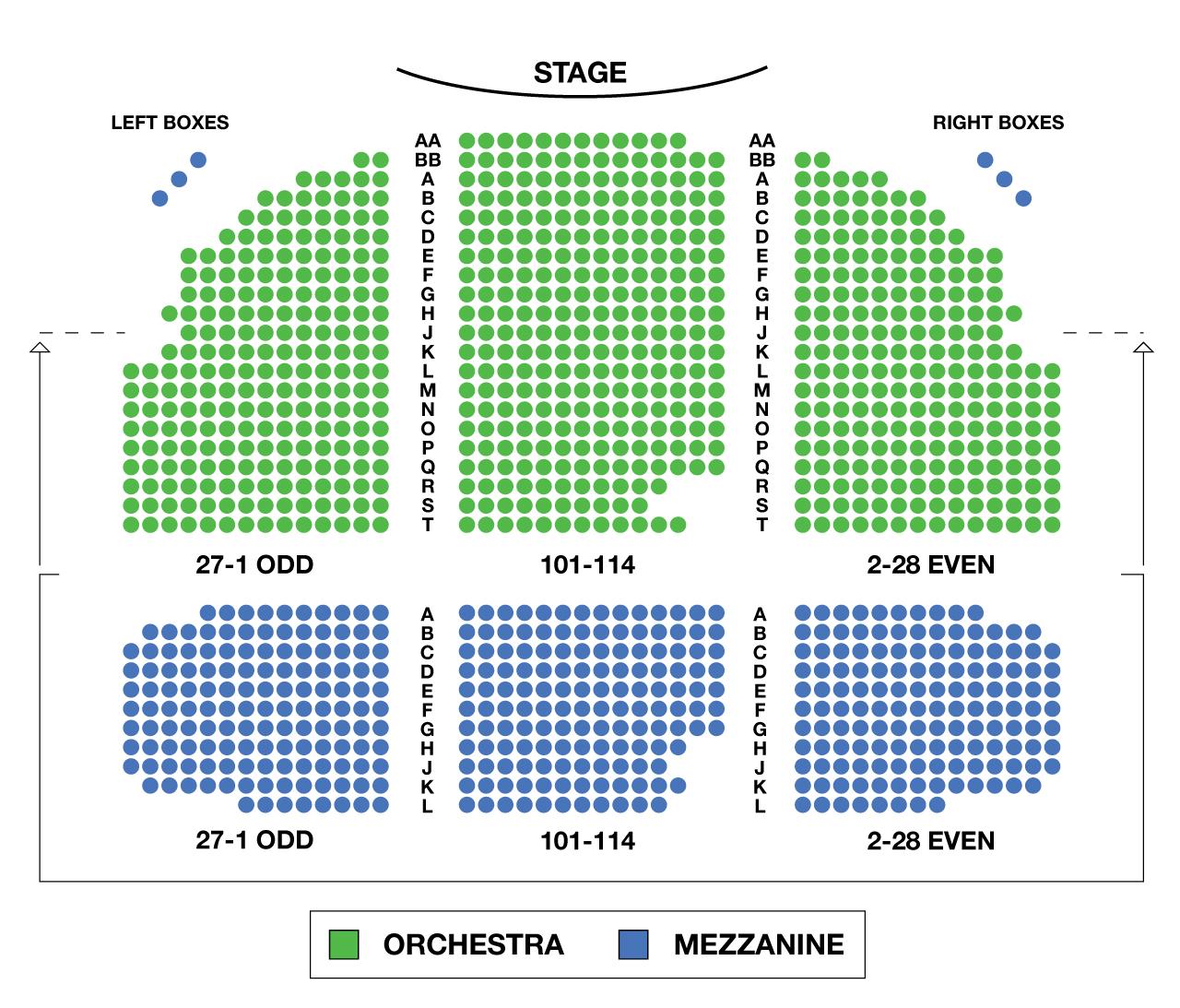 Broadhurst theatre broadway seating charts