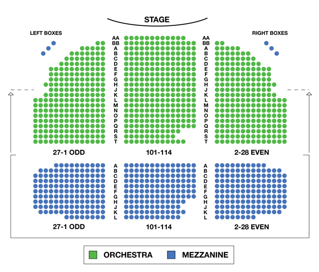 Broadhurst Theatre Broadway Seating Charts