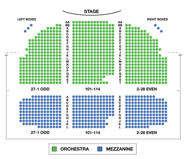 Broadhurst Theatre Broadway Seating Chart