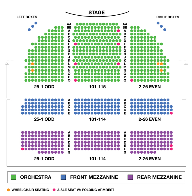 Broadway Theatre Broadway Seating Charts
