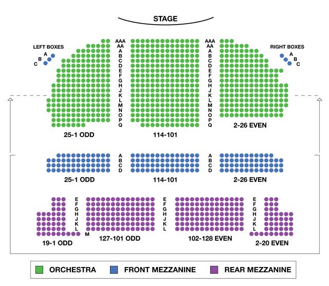 Brooks Atkinson Theatre Broadway Seating Chart