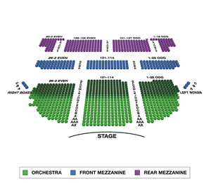 Brooks Atkinson Theatre Small Seating Chart