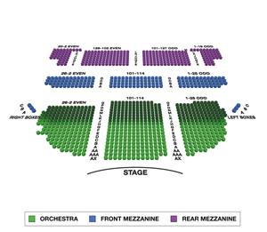 Brooks Atkinson Theatre Small Seating Chart
