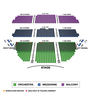Cort Theatre Small Seating Chart