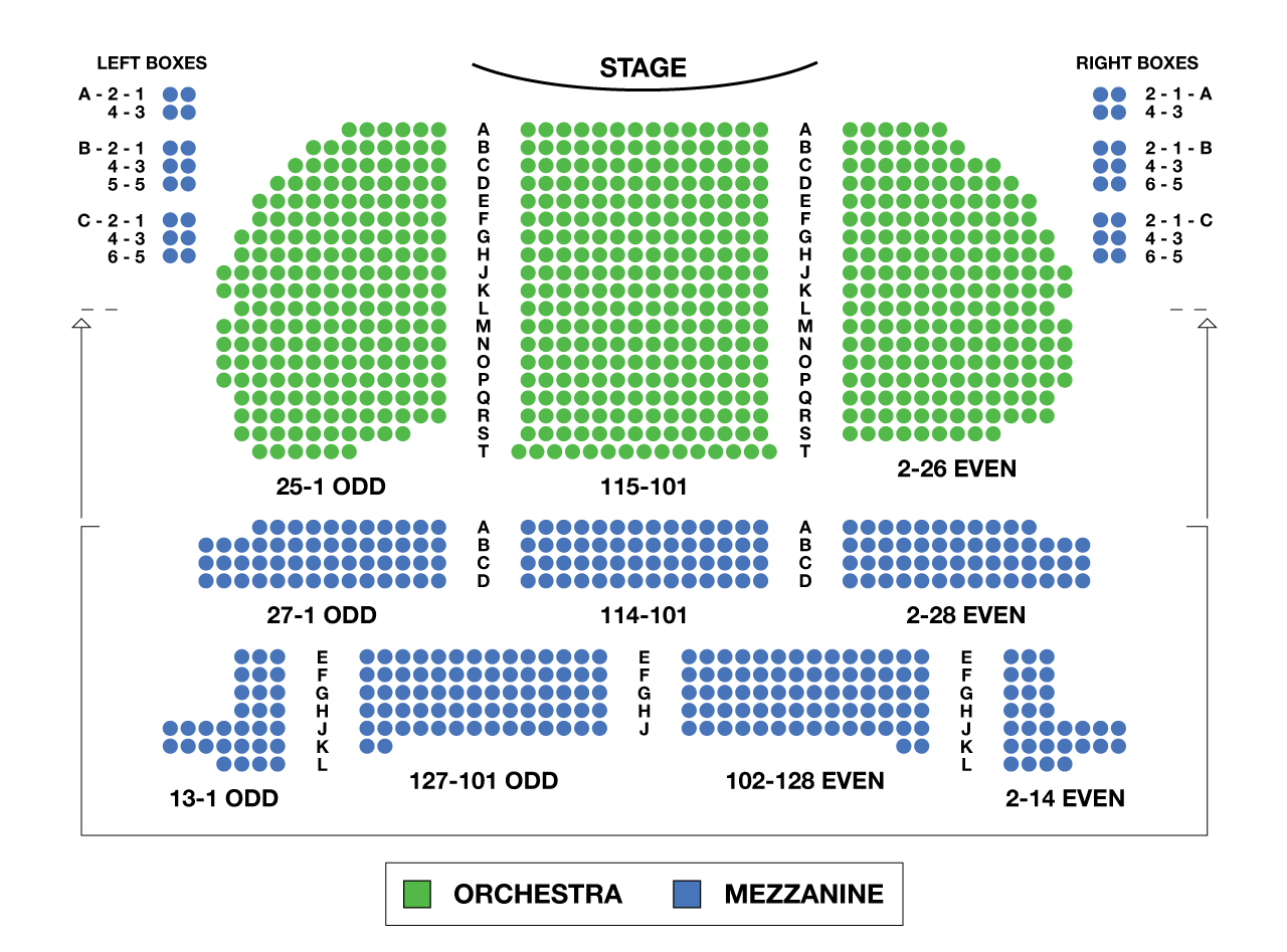 Eugene O'Neill Theatre Broadway Seating Chart Large
