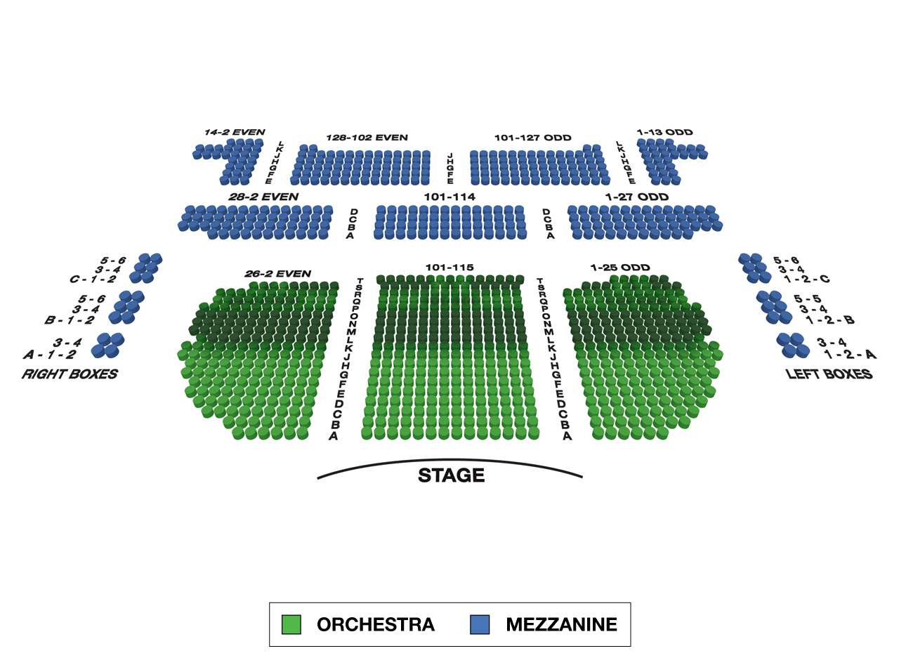 Eugene O'Neill Theatre Broadway 3D Seating Chart Large
