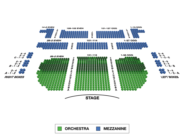 Eugene O'Neill Theatre Broadway 3D Seating Chart