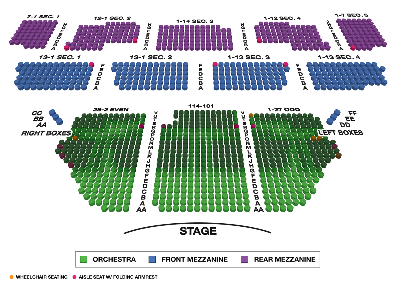 Imperial Theatre Broadway 3D Seating Chart Large