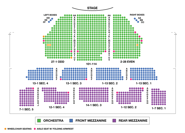 Imperial Theatre Broadway Seating Chart