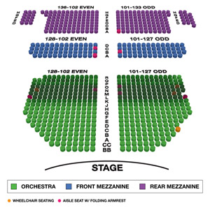 John Golden Theatre Small Seating Chart