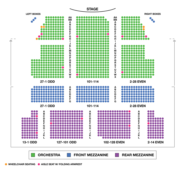 Majestic Theatre Broadway Seating Chart