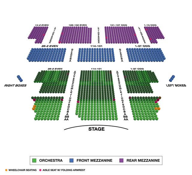Majestic Theatre (Broadway) Seating Chart