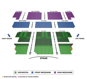 Majestic Theatre Small Seating Chart