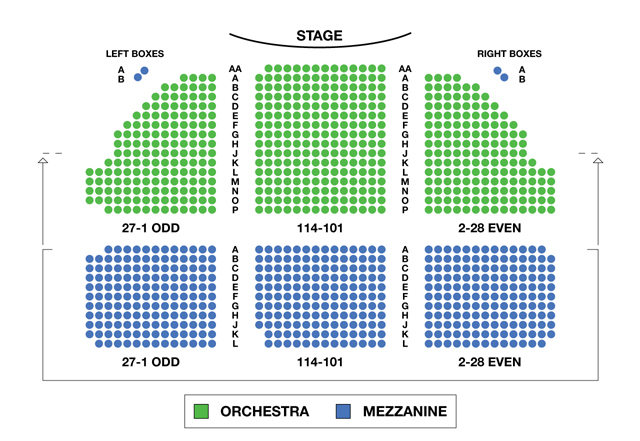 Dear Evan Hansen Lottery >> Music Box Theatre Broadway Seating Charts