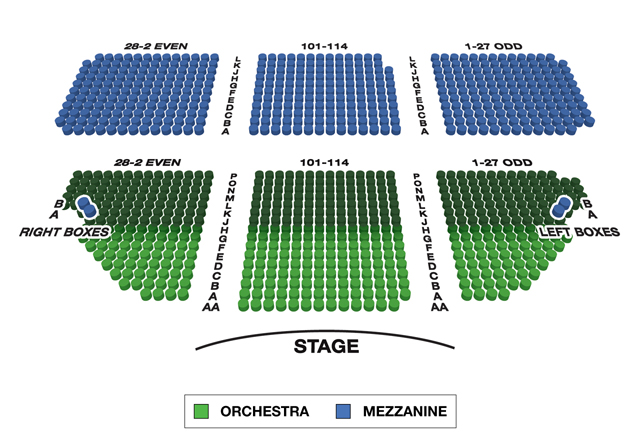 Music Box Theatre Broadway 3D Seating Chart
