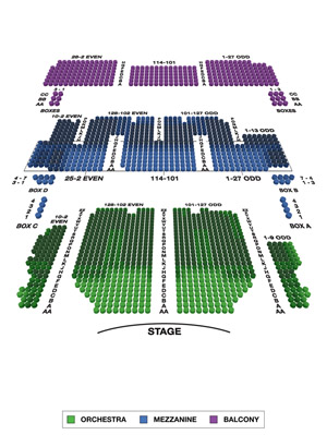 Palace Theatre Small Seating Chart