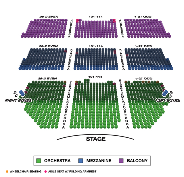 Shubert Theatre Seating Chart