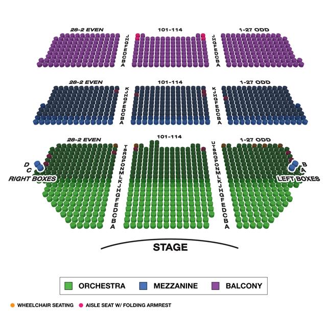 Shubert Theatre Broadway Seating Charts