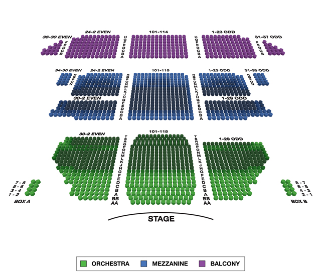 St. James Theatre Broadway 3D Seating Chart