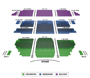 St. James Theatre Small Seating Chart