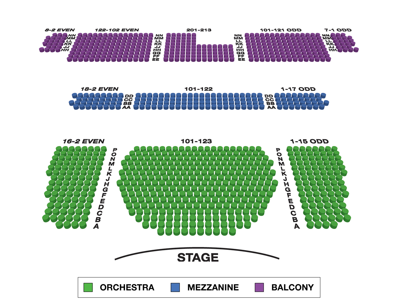 Studio 54 Broadway 3D Seating Chart Large