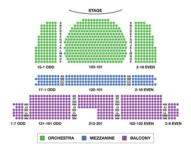 Studio 54 Broadway Seating Chart