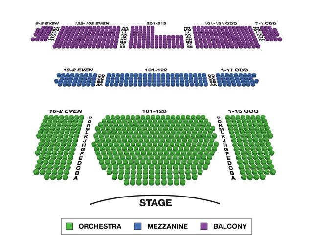 Studio 54 (Broadway) Seating Chart
