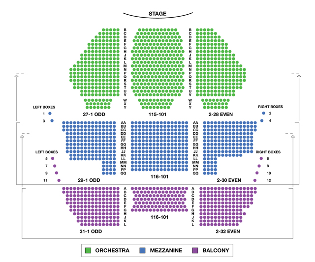 New Amsterdam Theatre Broadway Seating Chart