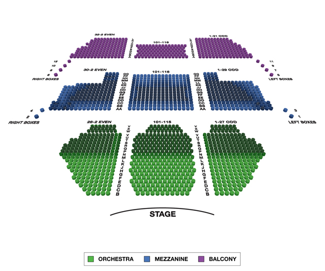 New Amsterdam Theatre Broadway 3D Seating Chart