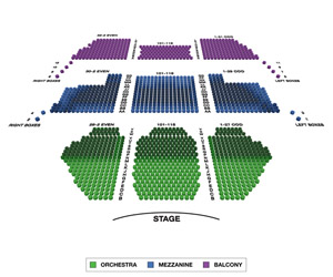 New Amsterdam Theatre Small Seating Chart