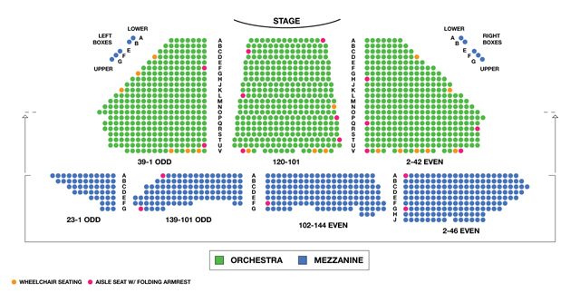 Winter Garden Theatre Broadway Seating Chart