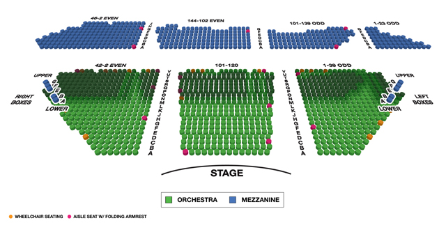 Winter Garden Theatre Broadway 3D Seating Chart