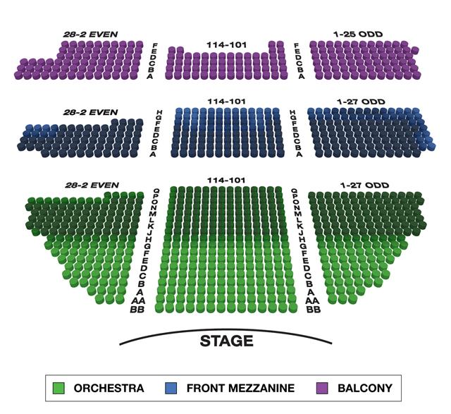 Belasco Theatre Broadway 3D Seating Chart