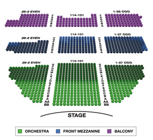 Belasco Theatre Small Seating Chart