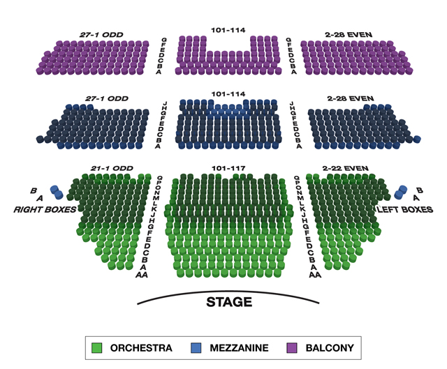 Longacre Theatre Broadway 3D Seating Chart