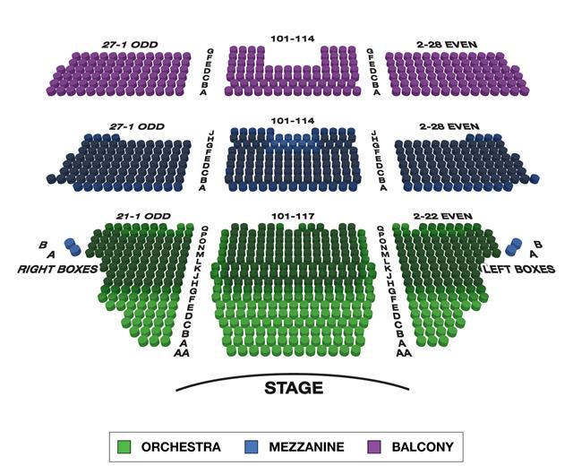 Longacre Theatre (Broadway) Seating Chart