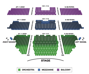 Longacre Theatre Small Seating Chart
